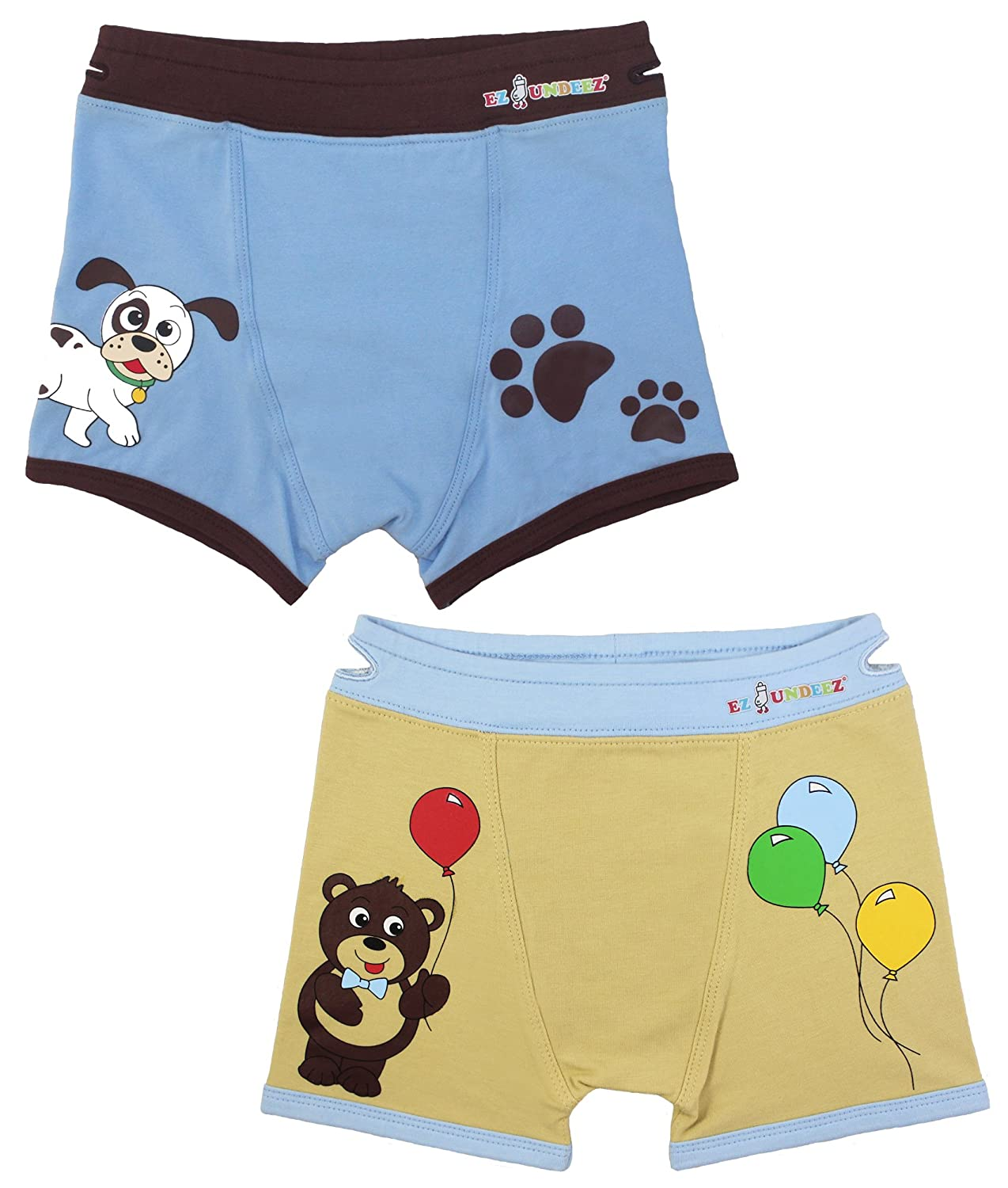 Boys Boxers Toddler Training Underwear with Ez Pull up Handles Ez Sox