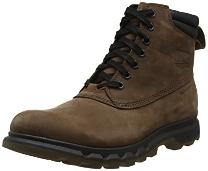 5be2ba5b7a2 Sorel Men's Portzman Lace Snow Boots, Brown Tobacco/Black, 7 UK 41 ...