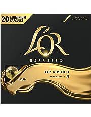 L'Or Espresso Café Or Absolu - Intensité 9 - 100 Capsules en Aluminium Compatibles avec les Machines Nespresso (Lot de 5X20 capsules)