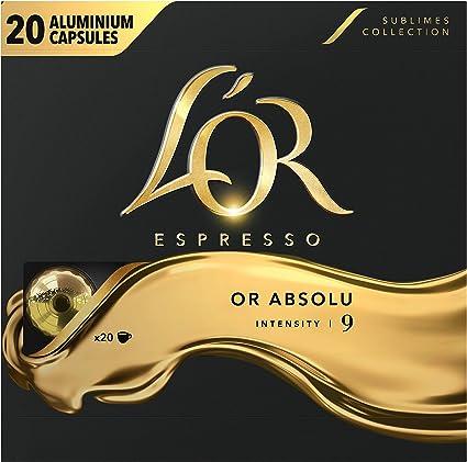 400 boissons L/'OR Café Forza Intensité 9 Capsules compatibles avec Nespresso