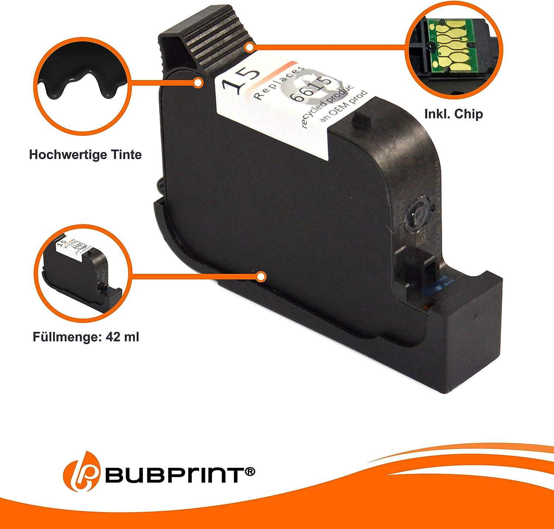 bubprint cartucho impresión compatible para HP 15 NEGRO: Amazon.es ...