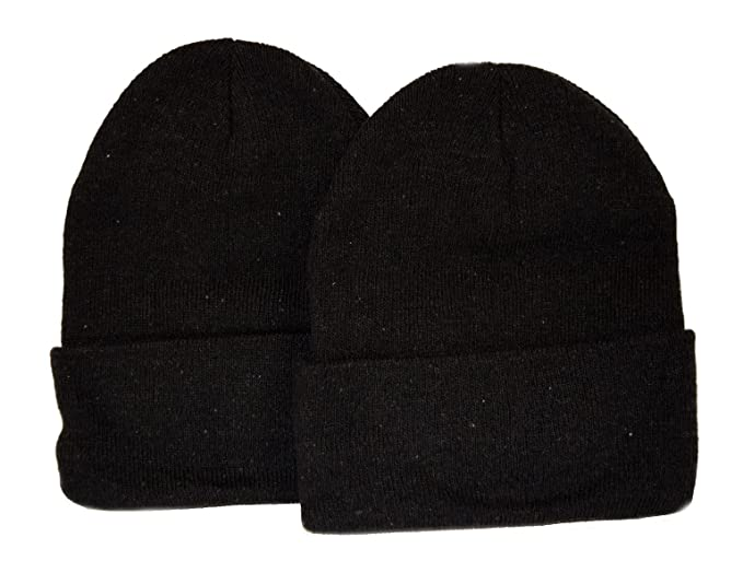 db696263 Image Unavailable. Image not available for. Color: Great Deals! 2 Pack Knit  Beanies / Black