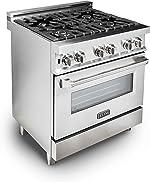 ZLINE 30 in. Professional 4.0 cu. ft. Gas Burner/Electric Oven Range