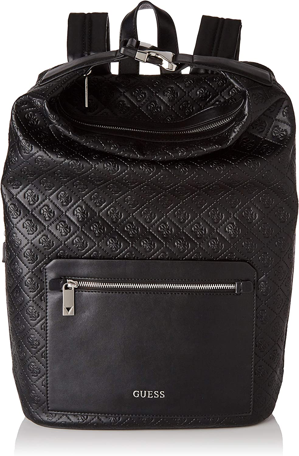 Guess GUESSDan 4g Embossed BackpackHombreNegro (Black) 16x46x31 Centimeters (W x H x L)