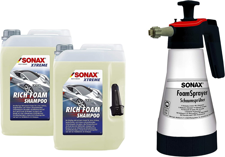 Sonax Schaum Wasch Paket Xtreme Richfoam Shampoo 2 X 5 Liter Foamsprayer 1 Liter Reichhaltige Aktivschaum Formel Art Nr 07685000 Auto