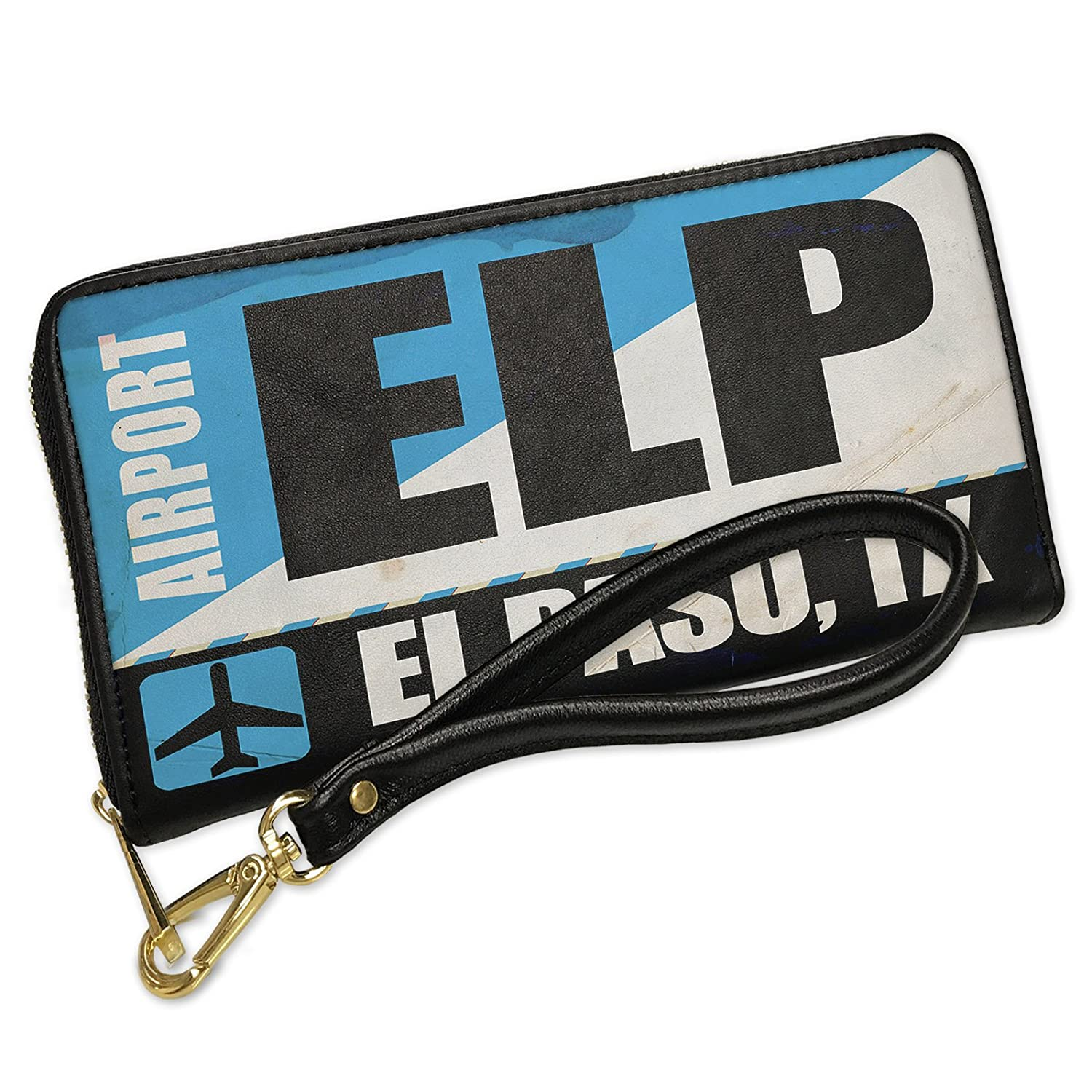 Amazon.com: Wallet Airportcode ELP El Paso, TX Mens Bifold ID Case - Neonblond: Clothing