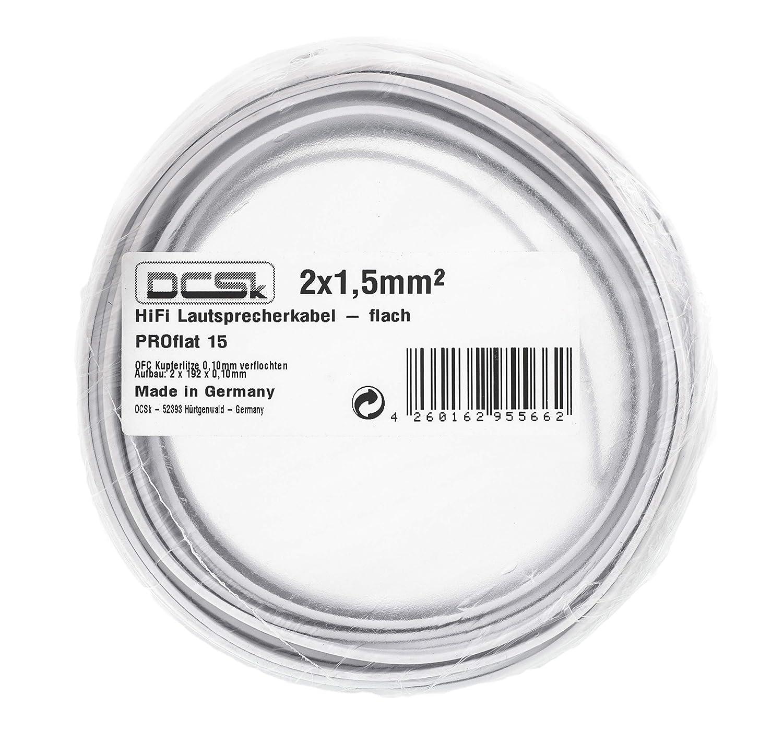 /Tr/ès Flexible 6mm/² 10m transparent DCSk C/âble denceinte HiFi en cuivre plein OFC/