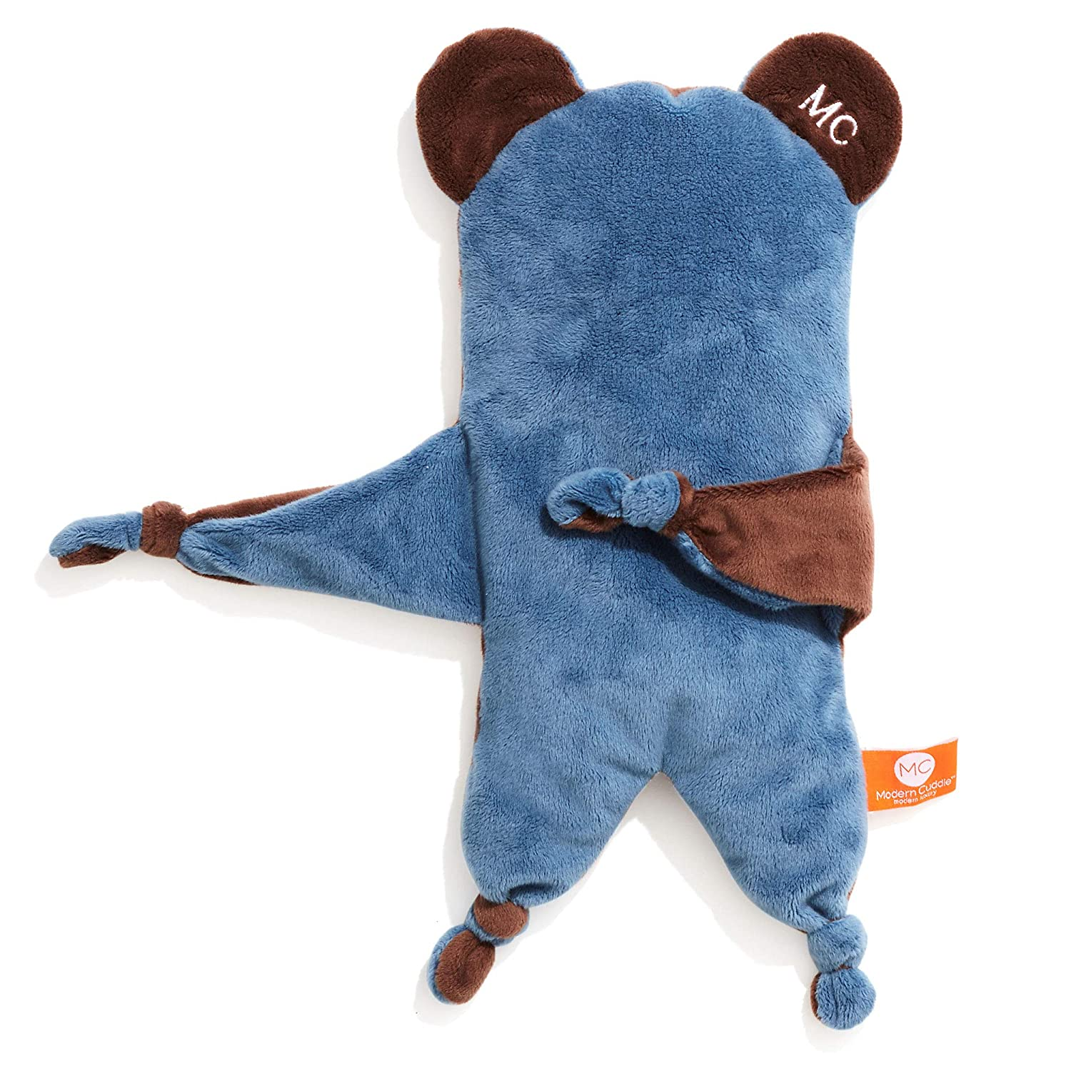 Modern Cuddle Cozy Soft Baby Toys 16 Minky Stuffed Animal Plush Puppy Dog Lovie Blankie Baby Security Blanket Blue Latte