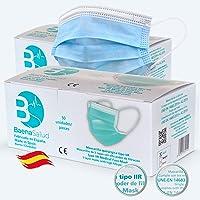Mascarillas Quirúrgicas, higiénicas, desechables, Tipo IIR, en difrentes colores, filtración (BFE) 98%, hechas en España