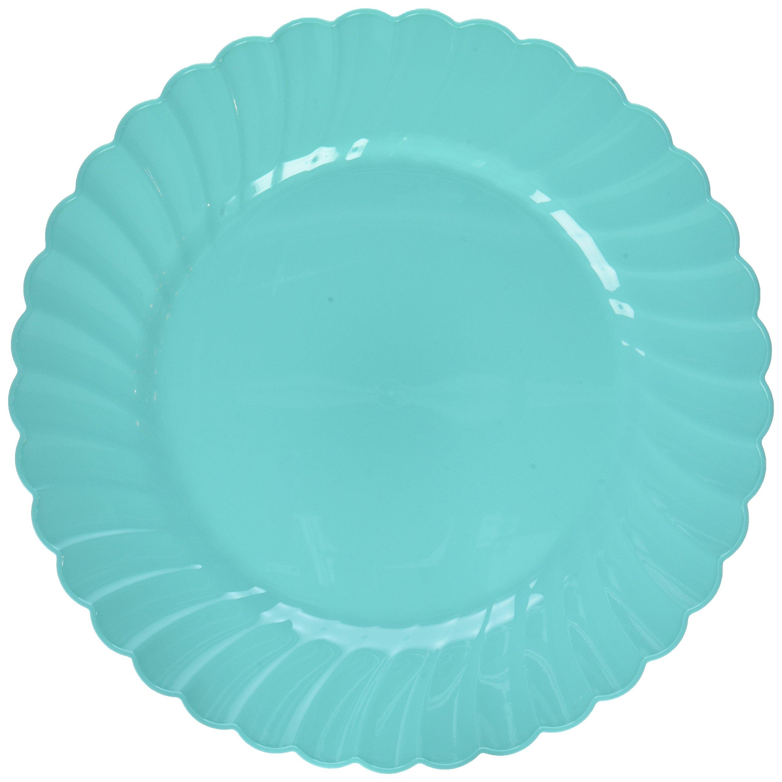 Amscan 430901.121 Plastic Plates, 10 1/4'', Robin's Egg Blue