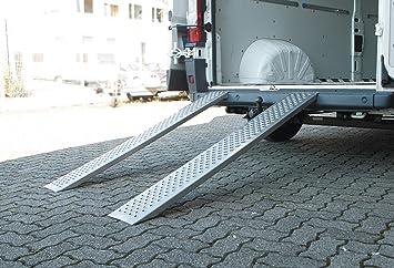 Trendline Auffahrrampe Alu 400 Kg 150 Cm Laderampe Rampe Auffahrschiene Auto