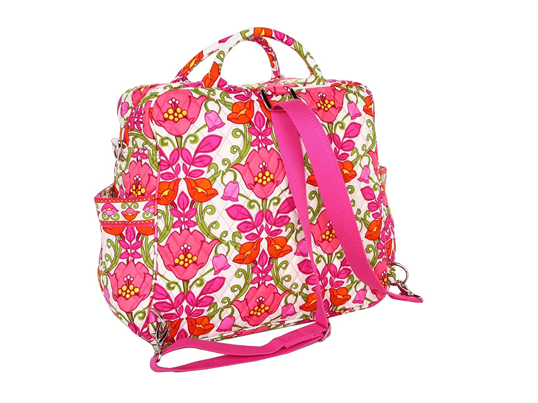 Amazon.com   Vera Bradley Convertible Baby Bag in Lilli Bell   Diaper Tote  Bags   Baby 337967343dd31