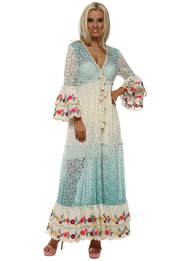 7ae63ff735c Laurie   Joe Maxi Dress One Size Aqua  Amazon.co.uk  Clothing