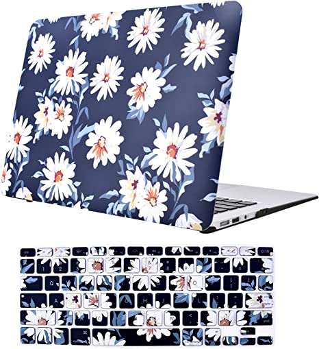 MacBook Air - Estuche de 13 pulgadas, funda protectora de plástico suave y rígido TeenGrow con cubierta de teclado para Mac Air 13