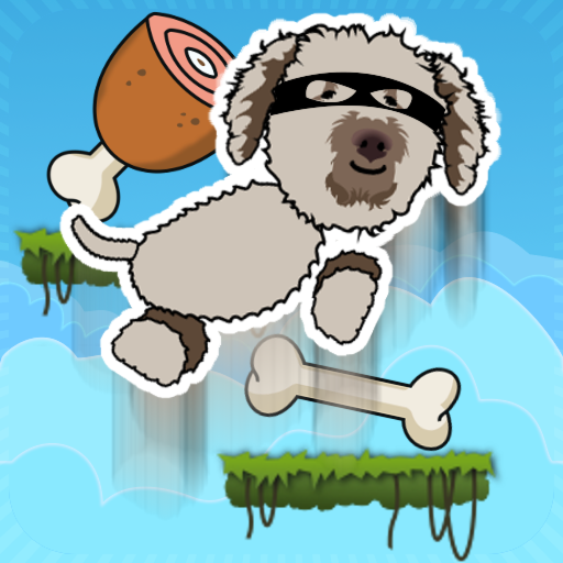Happy Dog Jump - Golden Doodle (Corny Dog Costume)