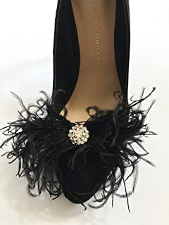 Zucker Feather Products Marabou Shoe Clip with Lurex