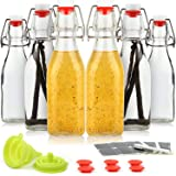 WILLDAN Set of 6-8.5oz Swing Top Glass Bottles - Flip Top Brewing Bottles For Kombucha, Kefir, Vanilla Extract, Beer - Airtig