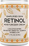 Retinol Moisturizer Cream 2.5% for Face & Eye Area with Vitamin E & Hyaluronic Acid for Anti Aging, Wrinkles & Acne - Best Night & Day Cream by Simplified Skin 1.7 oz