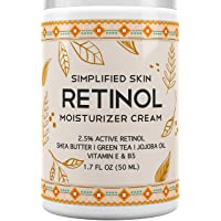 Retinol Moisturizer Cream 2.5% for Face & Eye Area with Vitamin E & Hyaluronic Acid...