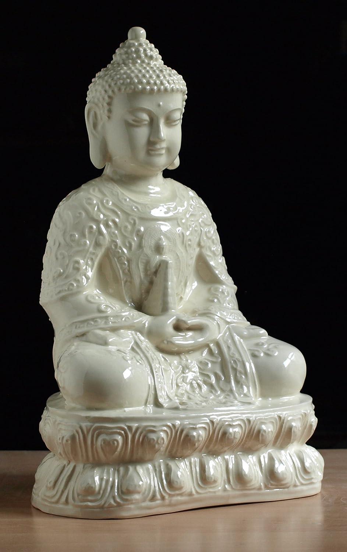 Gran cerámica de la Estatua de la el Buda individualmente ...
