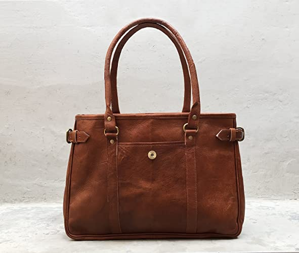 40c7b5ee815e Image Unavailable. Image not available for. Color  Pascado women s genuine leather  tote purse shoulder vintage bag top ...