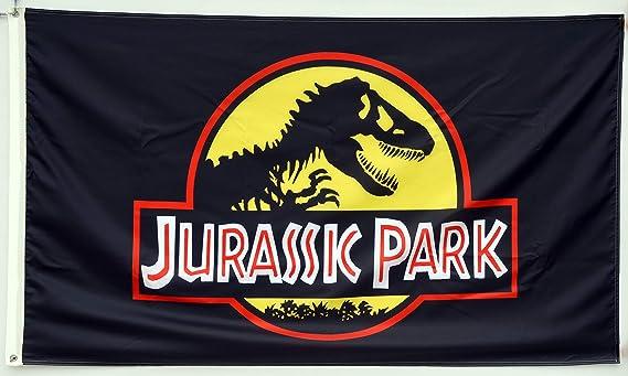Amazon.com: Astany Jurassic Park - Bandera de dinosaurio ...