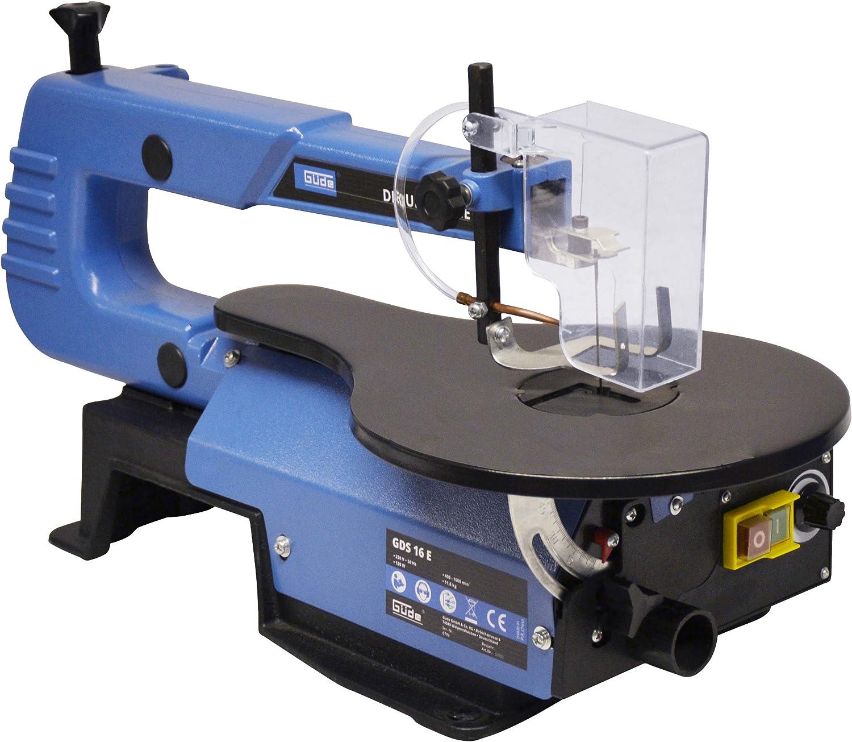 Güde 54992 GDS 16 E - Sierra de marquetería (120 W, altura de corte máx. 50 mm, hoja de sierra de 133 mm, profundidad de la mesa)