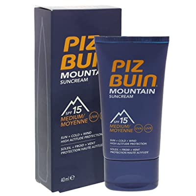 2 x Piz Buin Mountain sunc Ream SPF 15 Medium Sun + Cold + Wind, 40 ml
