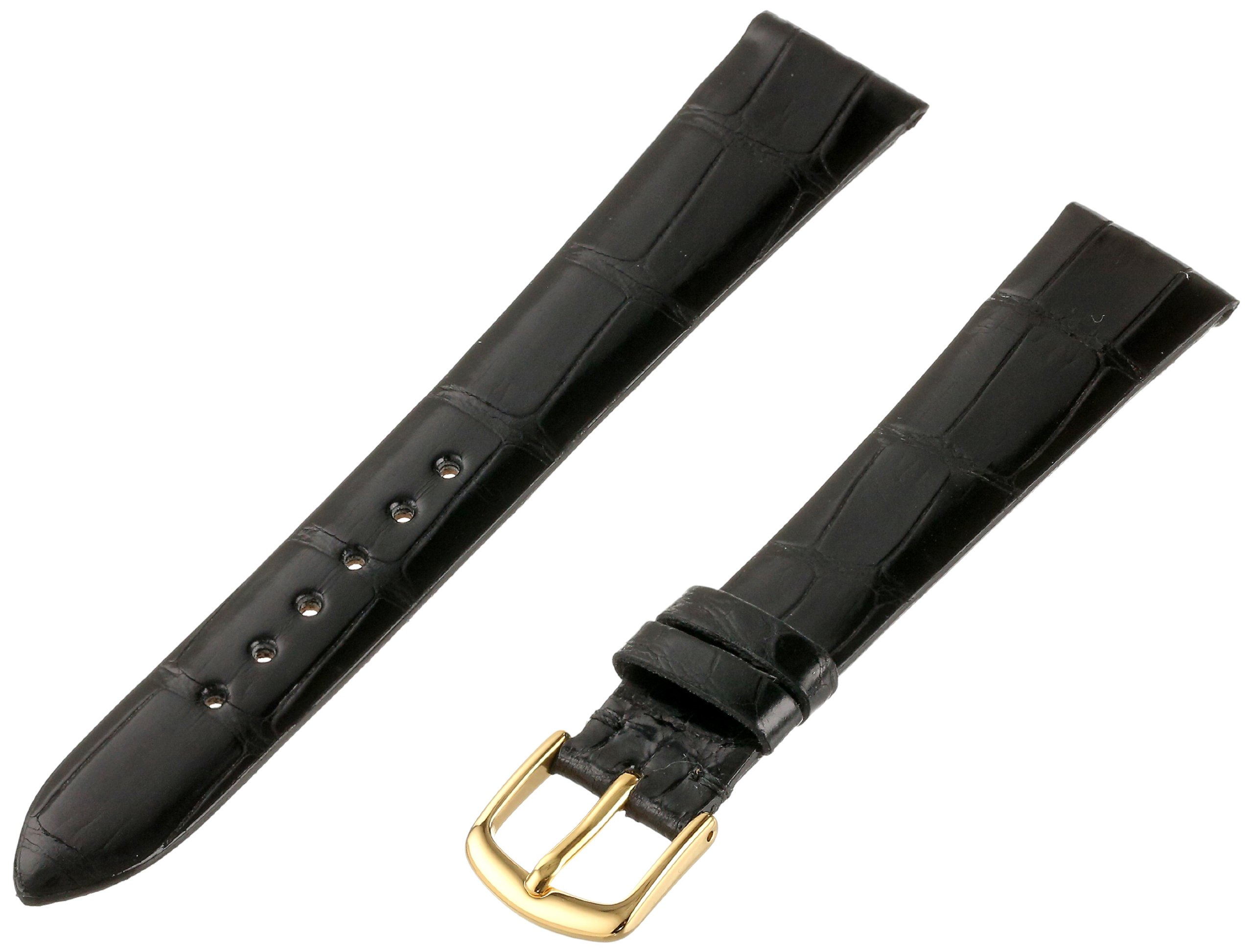 Hadley-Roma Men's 18mm Leather Watch Strap, Color:Black (Model: MS2009RA-180) by HADLEY-ROMA