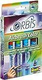 Orbis 30101 Set B - Set de recarga para aerógrafo (incluye 4 cartuchos de tinta), color naranja, verde, azul y marrón [importado de Alemania]