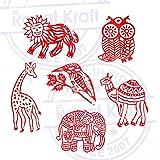 Royal Kraft Bird and Animal Wood Print Stamps