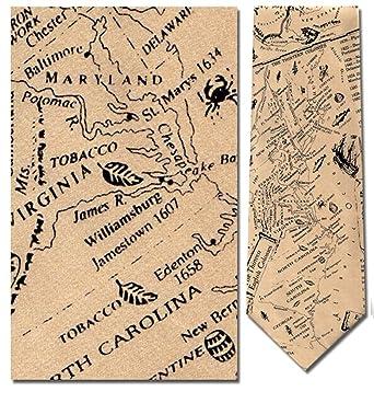 100% Silk The 13 Original Colonies Map Tie Necktie at Amazon ...  Original Colonies Map on