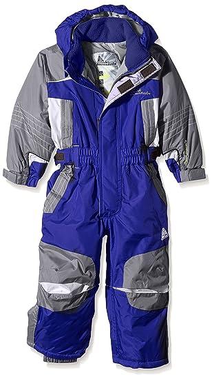 4f1bac0a2773a Peak Mountain Eplanx Combinaison de Ski Garçon, Bleu, FR : 3 Ans (Taille