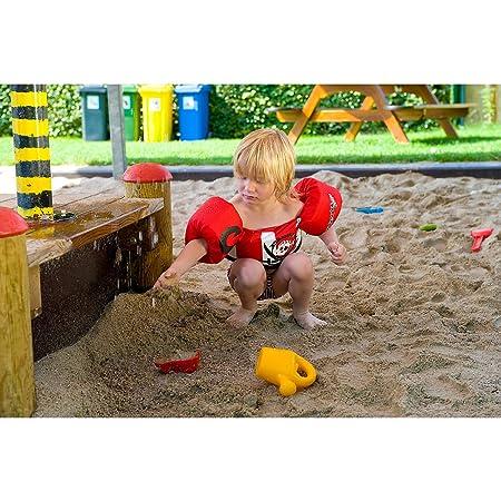 Sevylor Pirata Flotador, Manguitos bebé para Aprender a Nadar, Chaleco Salvavidas el complemento Ideal para niños de 2 a 5 años, Rojo, de de 15 a 30 kg de ...