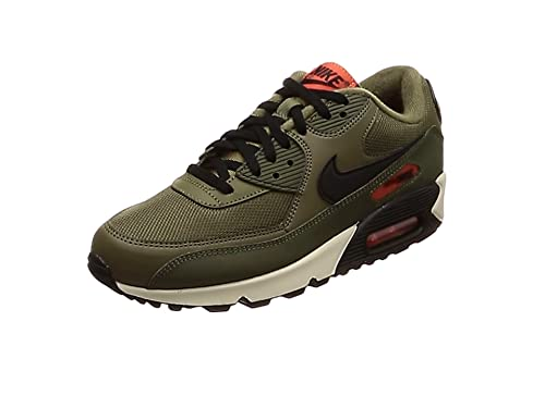 72ddd6fd14 Nike Air Max 90 Essential, Chaussures d'Athlétisme Homme, Multicolore  (Medium Olive