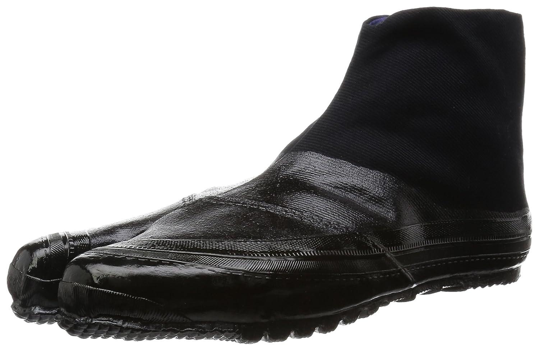 MARUGO Jitsuyou ALL BLACK Japanese Tabi Shoes Black with 3 Clips