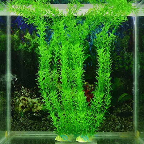 Adorno de césped de planta artificial verde para decoración de pecera decoración plástico Submarino