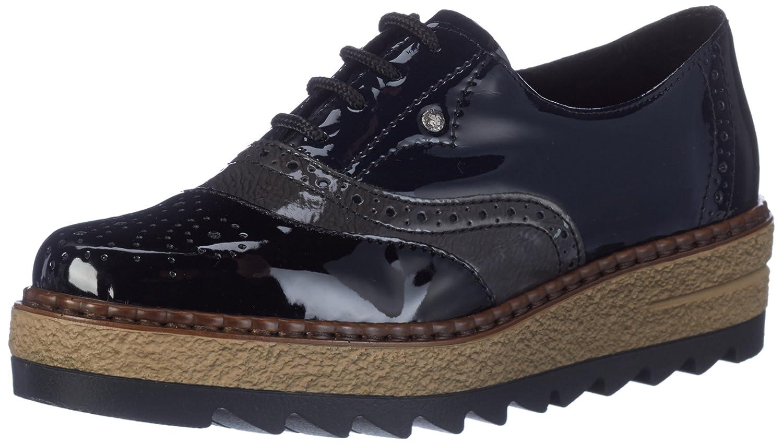 Rieker 55818, Zapatos de Vestir para Mujer 40 EU|Negro (Schwarz/Fumo/Marine)