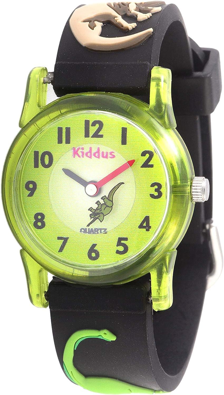 KIDDUS Reloj Educativo de Calidad para niña y niño. Analógico de Pulsera, con Ejercicios Time Teacher para Aprender a Leer y Decir la Hora. Mecanismo de Cuarzo japonés