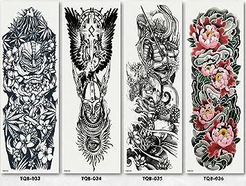 Tatuajes Temporales Tatuaje Brazo Hombre Tipo 09: Amazon.es: Belleza