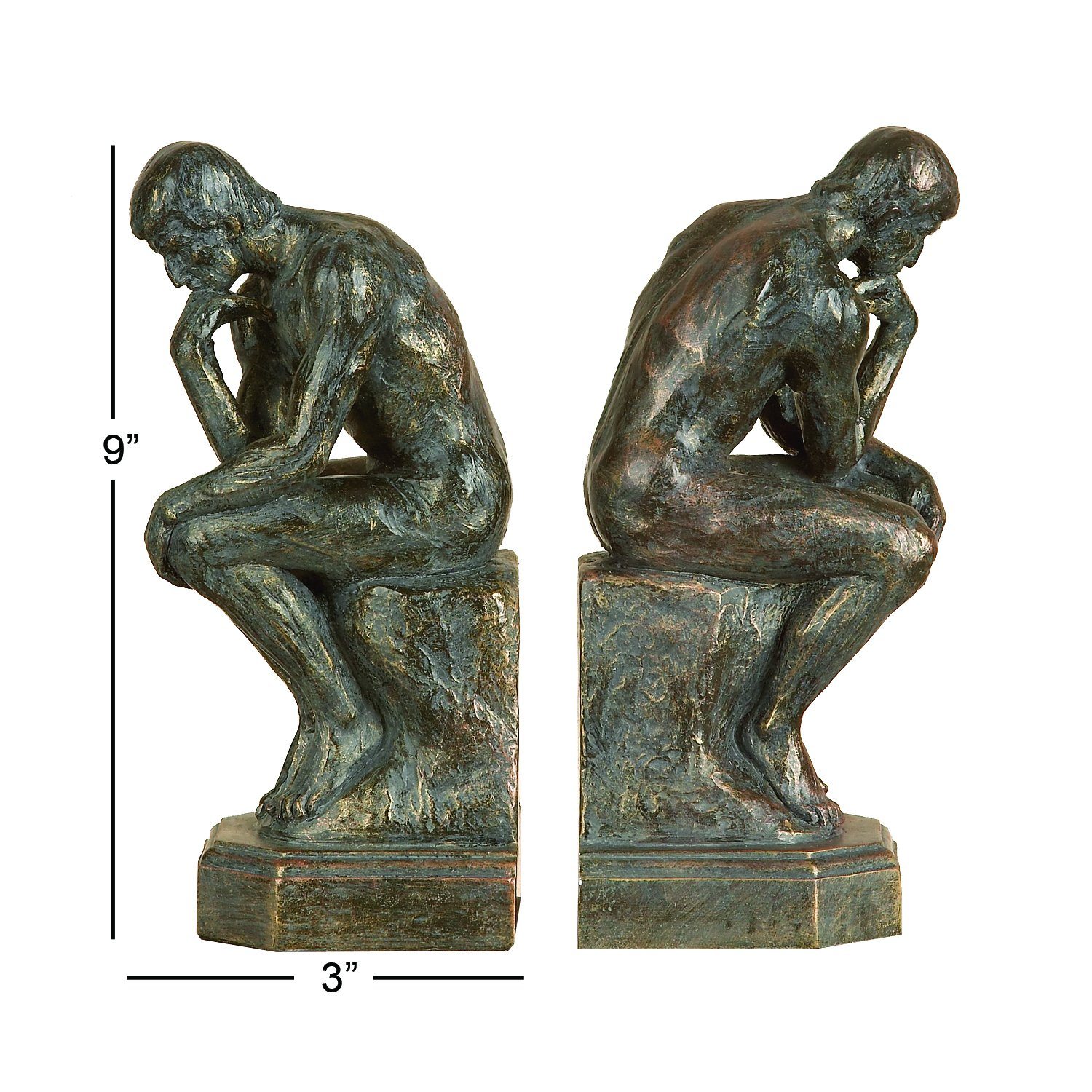 Thinker 75394 Bookends Pair 9
