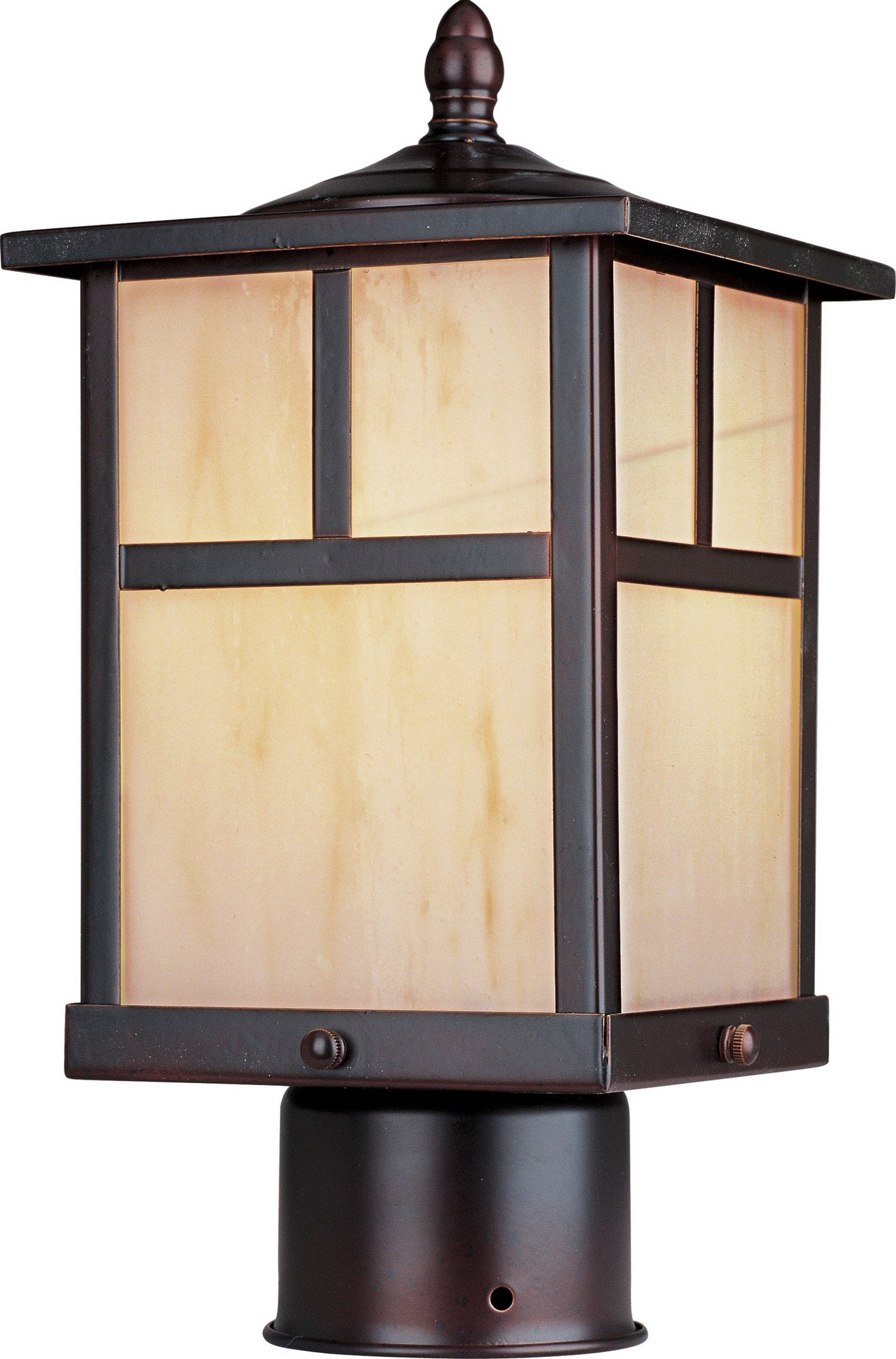 Maxim Lighting 4055HOBU Craftsman Post Mount Light – Outdoor Capable Mount Light with Burnished Finishing. Lighting Fixtures