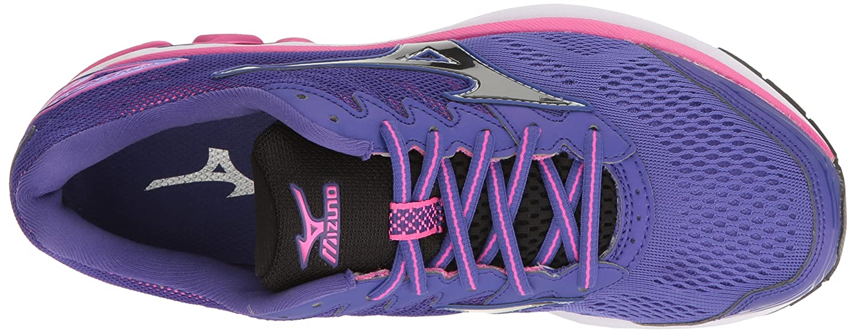 Mizuno Women's Wave Rider 20 Running Shoe B01H3EDH46 6 B(M) US|Purple/Black