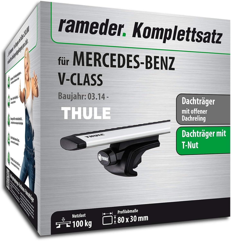 114614-11889-1 Dachtr/äger WingBar EVO f/ür Mercedes-Benz V-KLASSE Rameder Komplettsatz