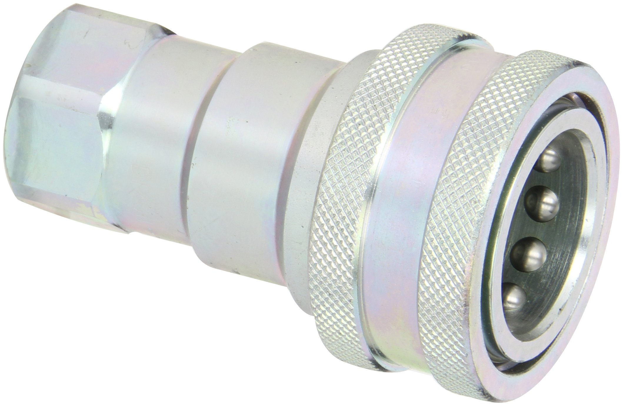 Dixon Valve 6HF6 Steel ISO-B Interchange Hydraulic Fitting, Coupler, 3/4'' Coupling x 3/4'' - 14 NPTF Female Thread