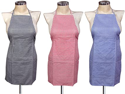 Yazlyn Collection Cotton Kitchen Multi Apron with Front Pocket -Set of 3