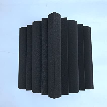 SODIAL 4 piezas Corner Bass Trap Panel acustico Studio Sound Absorption Foam 12 x 12 x 24cm