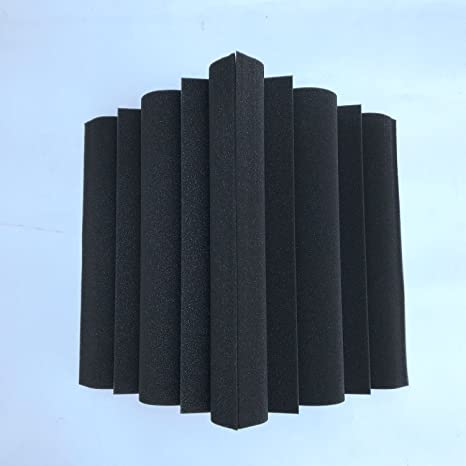SODIAL 4 piezas Corner Bass Trap Panel acustico Studio Sound Absorption Foam 12 x 12 x
