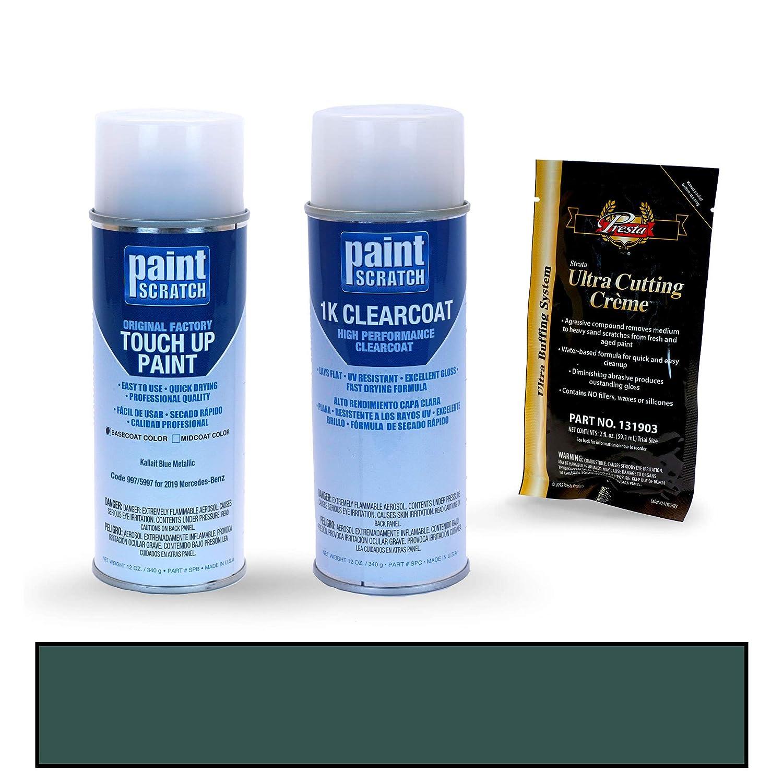 PAINTSCRATCH Kallait Blue Metallic 997/5997 for 2019 Mercedes-Benz E-Class - Touch Up Paint Spray Can Kit - Original Factory OEM Automotive Paint - Color ...