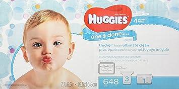 amazon com huggies one done refreshing baby wipes refill